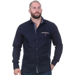 Vêtements Homme Chemises manches longues Ruckfield Chemise marine Rugby Elégance Noir