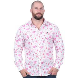 Vêtements Homme Chemises manches longues Ruckfield Chemise manches longues imprimée à fleurs Noir