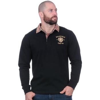 Vêtements Homme Polos manches longues Ruckfield Polo automne à manches longues noir Noir