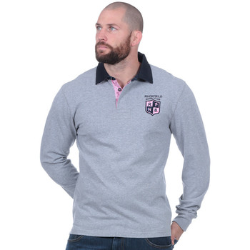 Vêtements Homme Polos manches longues Ruckfield Polo Rugby club gris Noir