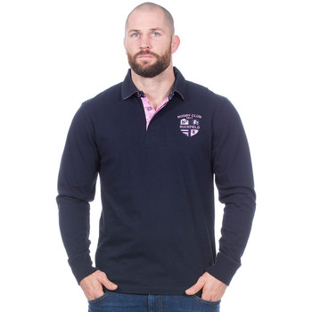 Vêtements Homme Polos manches longues Ruckfield Polo marine Rugby club manches longues Noir