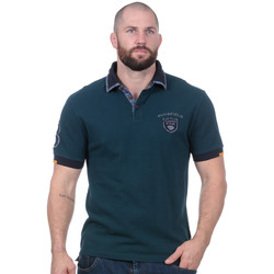 Vêtements Homme Polos manches courtes Ruckfield polo Flowers of Rugby bleu canard Noir
