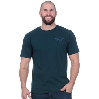 Vêtements Homme T-shirts manches courtes Ruckfield Tee-shirt flowers of rugby bleu canard Noir