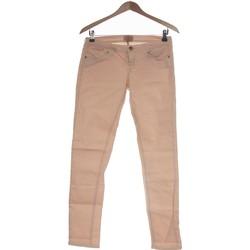 Vêtements Femme Jeans droit Bershka Jean Droit Femme  38 - T2 - M Rose