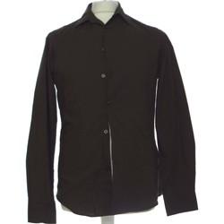 Vêtements Homme Chemises manches longues H&M Chemise Manches Longues  36 - T1 - S Marron