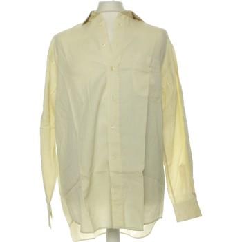 Vêtements Homme Chemises manches longues Feraud Chemise Manches Longues  42 - T4 - L/xl Jaune
