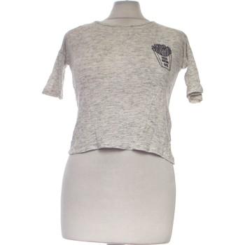 Vêtements Femme Tops / Blouses H&M Top Manches Courtes  34 - T0 - Xs Gris