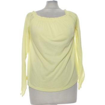 Vêtements Femme Tops / Blouses Bershka Top Manches Longues  36 - T1 - S Jaune