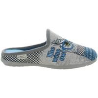 Chaussures Femme Chaussons La Maison De L'espadrille 9010 HIBOUX Bleu