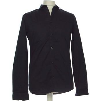 Vêtements Homme Chemises manches longues H&M Chemise Manches Longues  38 - T2 - M Bleu