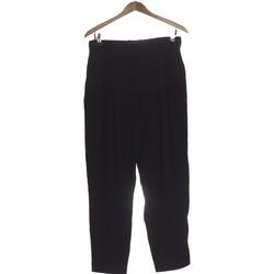 Vêtements Femme Pantalons fluides / Sarouels Zara Pantalon Droit Femme  38 - T2 - M Noir