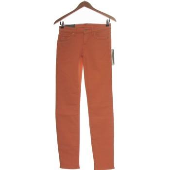 Vêtements Femme Jeans droit 7 for all Mankind Jean Droit Femme  34 - T0 - Xs Orange