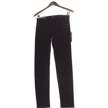 Vêtements Femme Jeans droit 7 for all Mankind Jean Droit Femme  34 - T0 - Xs Noir