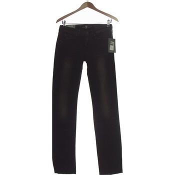 Vêtements Femme Jeans droit 7 for all Mankind Jean Droit Femme  36 - T1 - S Noir