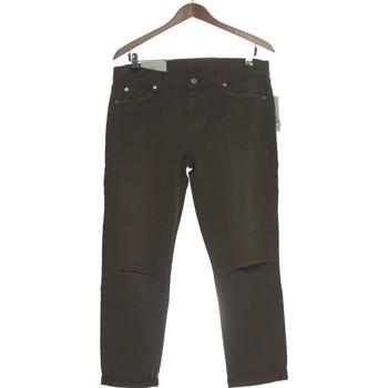 Vêtements Femme Jeans droit 7 for all Mankind Jean Droit Femme  36 - T1 - S Vert