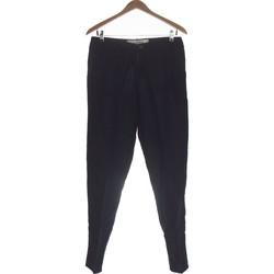 Vêtements Femme Pantalons H&M Pantalon Droit Femme  36 - T1 - S Bleu