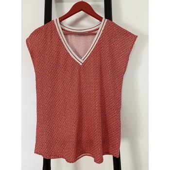 Vêtements Femme Tuniques It Hippie tunique/chemise légère femme col V un peu brillant Rouge