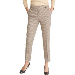 Vêtements Femme Chinos / Carrots Balsamik Pantalon longueur 7/8ème carreauxbeige