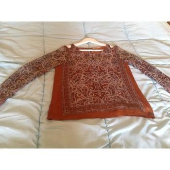 Vêtements Femme Tops / Blouses DDP Top imprimé Marron