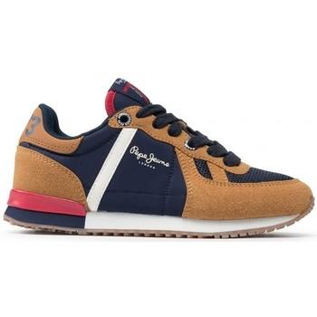 Chaussures Garçon Baskets basses Pepe jeans SYDNEY COMBI BOY Marron