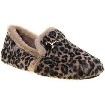 Chaussures Femme Chaussons La Maison De L'espadrille ANAIS94 Léopard