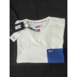 Vêtements Homme T-shirts manches courtes Tommy Jeans T Shirt Tommy Jeans Blanc