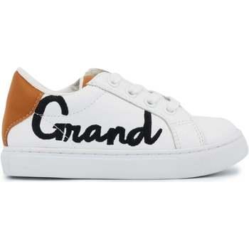 Chaussures Femme Baskets basses Bons baisers de Paname Baskets en cuir Mini Simone Grand Frère Blanc