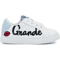 Chaussures Femme Baskets basses Bons baisers de Paname Baskets en cuir Mini Simone Grande Soeur Blanc