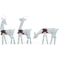 Maison & Déco Décorations festives VidaXL Renne de Noël Blanc