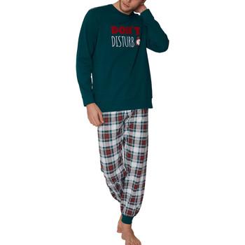 Vêtements Homme Pyjamas / Chemises de nuit Admas For Men Pyjama tenue d'intérieur pantalon et haut Do Not Disturb Admas Vert