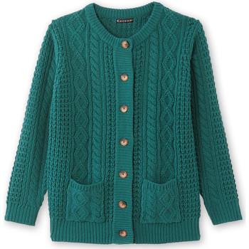 Vêtements Femme Gilets / Cardigans Kocoon Cardigan torsadé vert