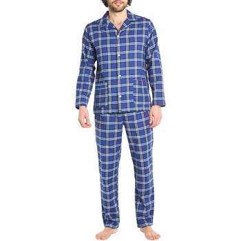 Vêtements Homme Pyjamas / Chemises de nuit Arthur Pyjama long coton Bleu nuit