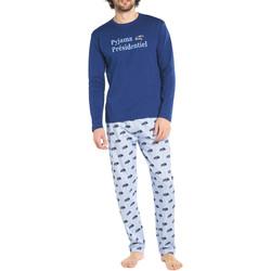 Vêtements Homme Pyjamas / Chemises de nuit Arthur Pyjama long coton Bleu