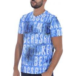 Vêtements Homme T-shirts manches courtes Bikkembergs C 4 101 00 E 2250 Bleu