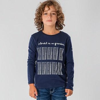 Vêtements Enfant T-shirts manches longues Interdit De Me Gronder LA RENTREE Bleu