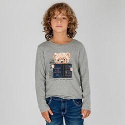 Vêtements Enfant T-shirts manches longues Interdit De Me Gronder L'ECOLIER Gris chiné