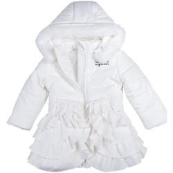 Vêtements Fille Doudounes Interdit De Me Gronder POESIE Blanc