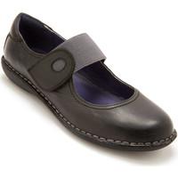Chaussures Femme Ballerines / babies Pediconfort Babies patte scratch tannage végétal gris