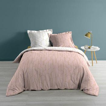 Maison & Déco Parures de lit 1001Kdo Pour La Maison Parure housse couette 240x220 cm Domea rose Multicolore