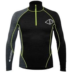 Vêtements Homme Vestes de survêtement Crazy Idea Pull Fahrenheit Zip Homme Noir Noir