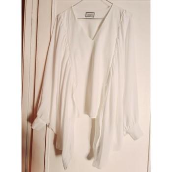 Vêtements Femme Chemises / Chemisiers Indies Blouse manches papillons Blanc