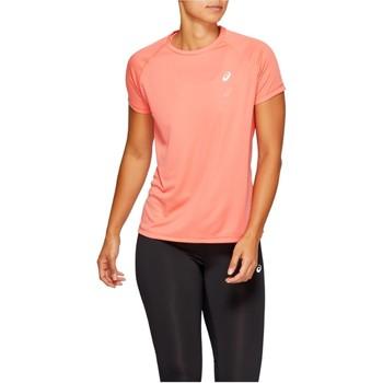 Vêtements Femme T-shirts manches courtes Asics Sport Run Top Orange