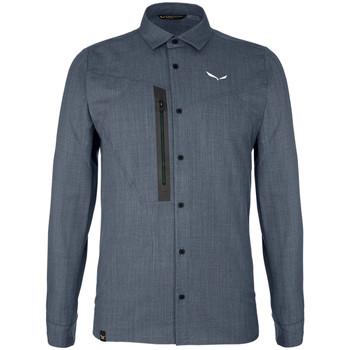 Vêtements Homme Chemises manches longues Salewa Koszula  Fanes Wool Dry M L/S SRT 27762-3988 szary
