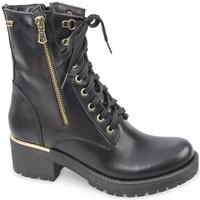 Chaussures Femme Boots Valleverde 28621 biker Black