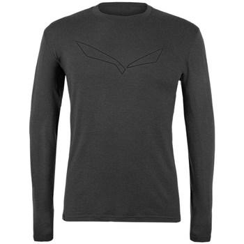 Vêtements Homme T-shirts manches longues Salewa Pure Logo Merino Responsive Gris