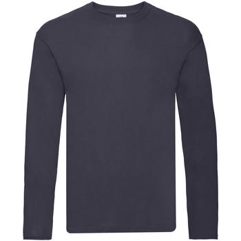 Vêtements Homme T-shirts manches longues Fruit Of The Loom 61446 Bleu marine foncé