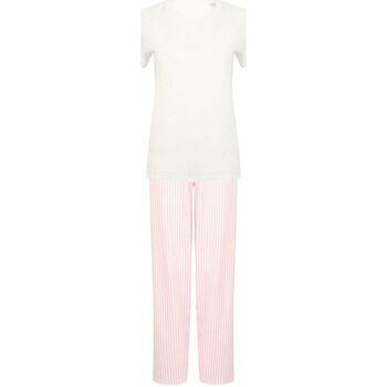 Vêtements Femme Pyjamas / Chemises de nuit Towel City TC053 Blanc/ rose