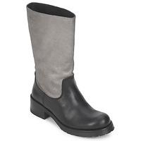Chaussures Femme Bottes ville Pastelle PETULA ARGENT-NOIR