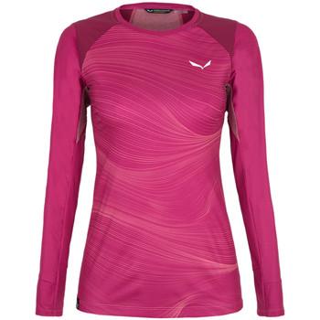 Vêtements Femme T-shirts manches longues Salewa Koszulka  Seceda Dry 28244-6360 czerwony