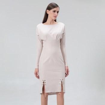 Vêtements Femme Robes courtes Smart & Joy Longane Beige coquille